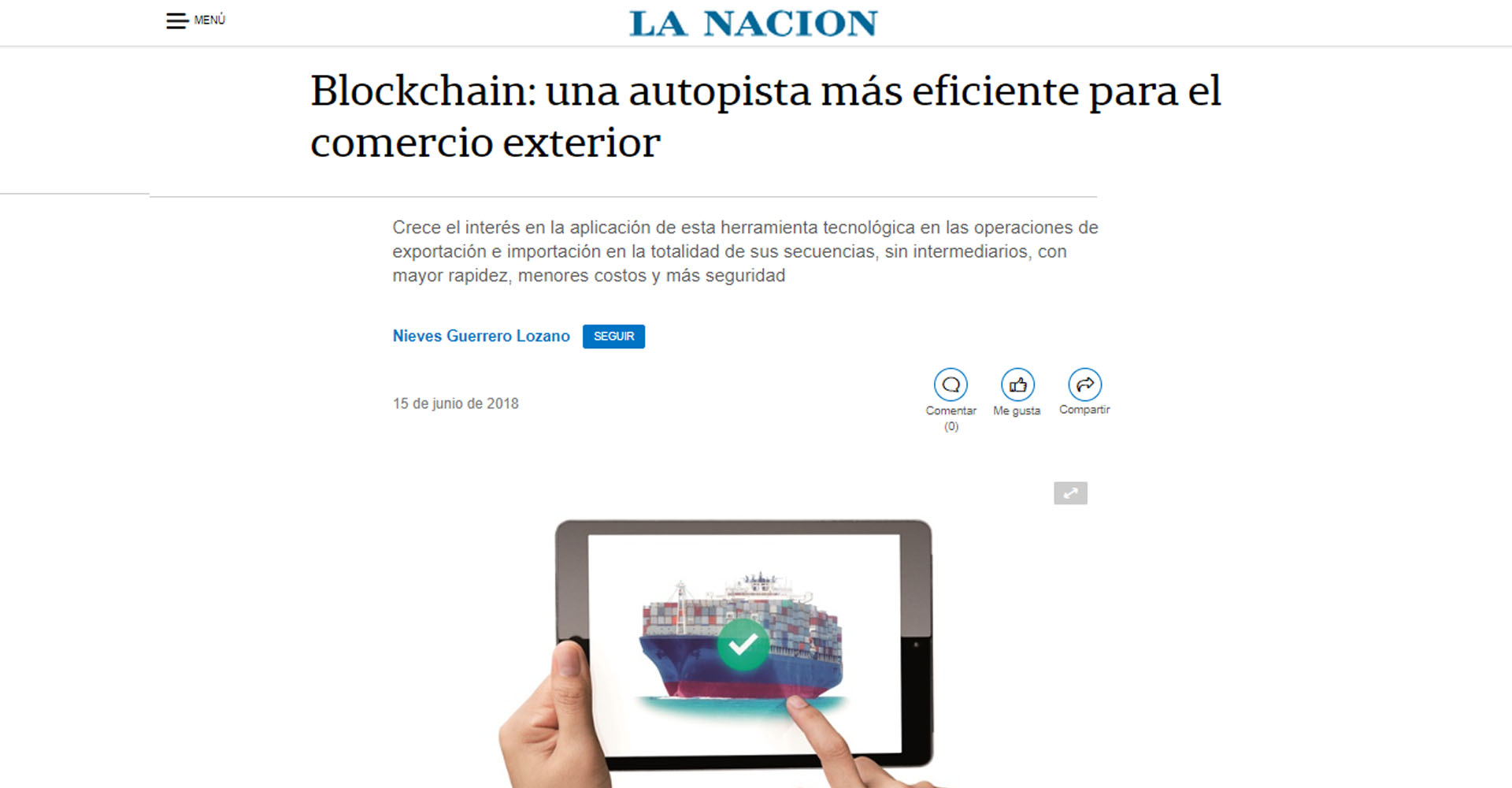 «Blockchain: Una autopista más eficiente para el comercio exterior»